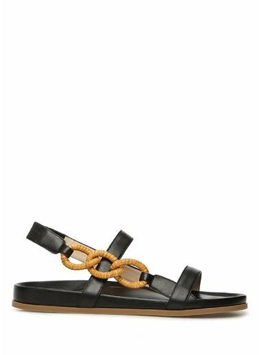 Rodo Rodo  Zincir Detaylı Kadın Deri Sandalet 101614220 Siyah